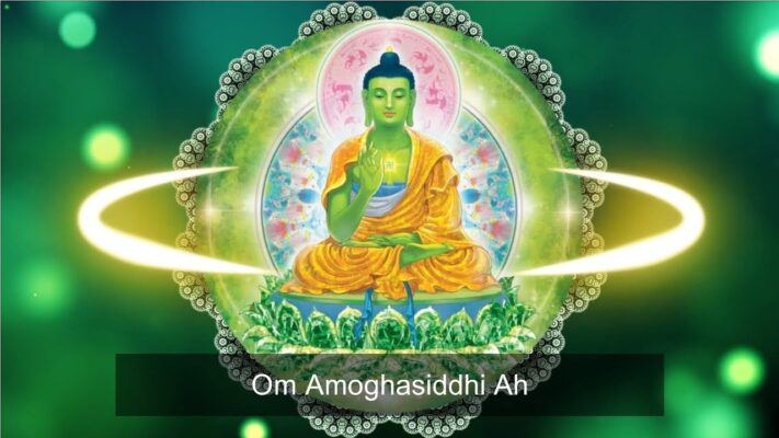 Read more about the article [1 Hour]🎭 The Amogasiddhi Mantra   Om Amogasiddhi Ah   Amoghasiddhi – 5 Meditation Buddhas🎭