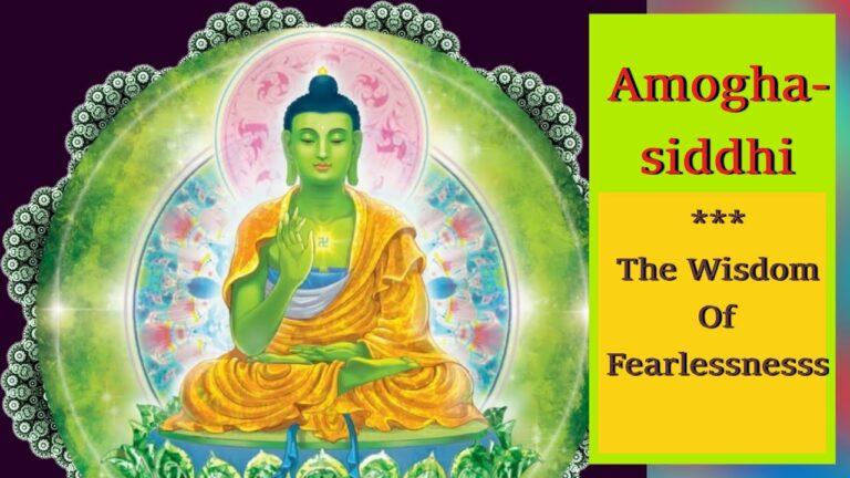 Read more about the article [1/2 Hour]🎭 Amoghasiddhi Buddha | Om Amoghasiddhi Ah | Amoghasiddhi – Five Meditation Buddhas 🎭